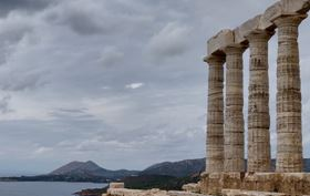 August Full Moon at Sounion